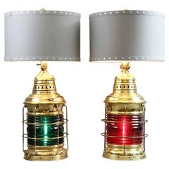 Port and Starboard Table Lamps