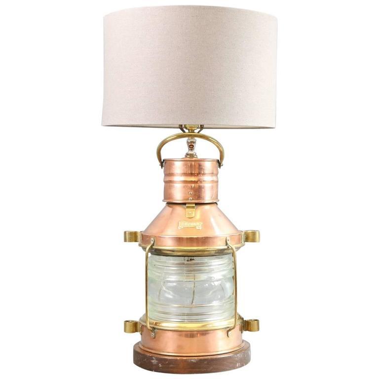 Marvelous Anchor Lantern Lamp For Sale