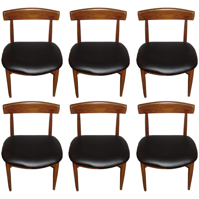 Set of Six Danish Mid-Century Modern Rosewood Dining Chairs 1
