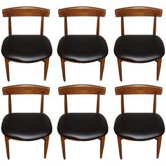 Set of Six Danish Mid-Century Modern Rosewood Dining Chairs