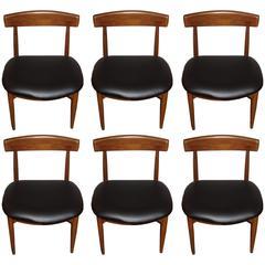 Set of Six Danish Mid-Century Modern Rosewood Dining Chairs
