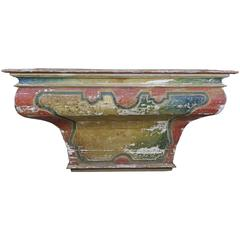 19th Century Spanish Painted Altar Table