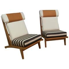 Pair of Hans J Wegner GETAMA Lounge Chairs, circa 1960s