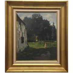 Oil from the Late 19th Century, Country Scene