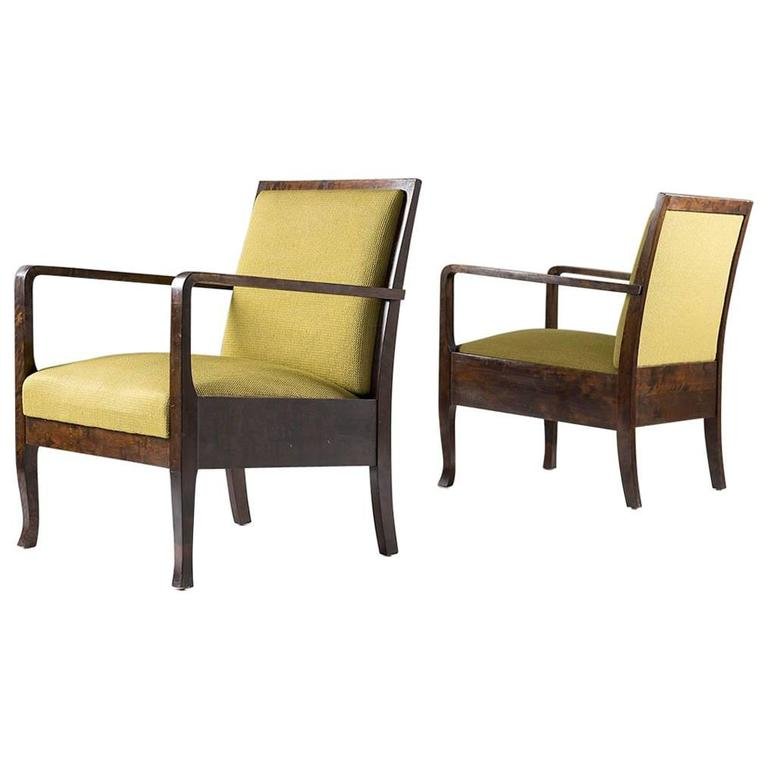 Swedish Art Deco Lounge Chairs For Sale