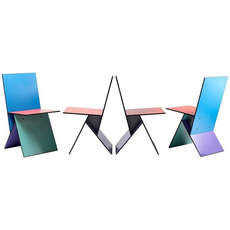 "Set of Four Verner Panton ""Vilbert"" Chairs"