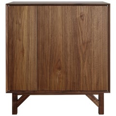 Walnut Hi-Fi Credenza with Touch Latch Doors and Hand Rubbed Oil Finish