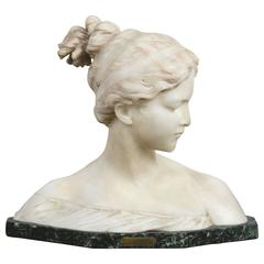 Signed Marble Bust, Poesie