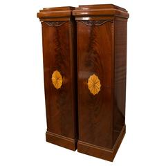 Pair of Continental Pedestal Cabinets