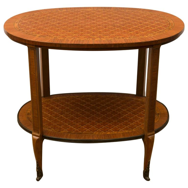 Two-Tier Parquetry Side or End Table