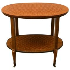Two Tier Parquetry Side Or End Table