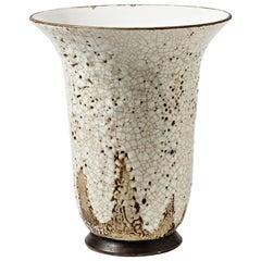 Large Illuminating Enamelled Ceram Bowl, Art Deco Period, circa 1930-1940