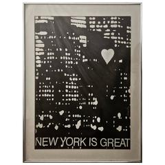 "Bernard Stone ""New York Is Great"" Pencil Signed Lithograph"