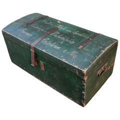 Painted Travel Trunk Naming Steamer Company, circa 1900