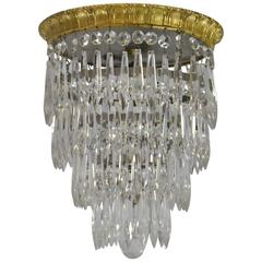 Small Scale Four-Tier Crystal Wedding Cake Chandelier with One Light