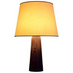 1960s Danish Wenge Table Lamp