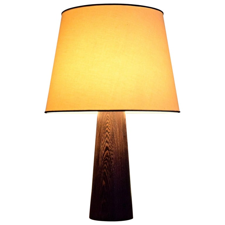 1960s Danish Wenge Table Lamp For Sale