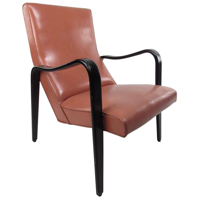 Mid-Century Modern High Back Lounge Chair