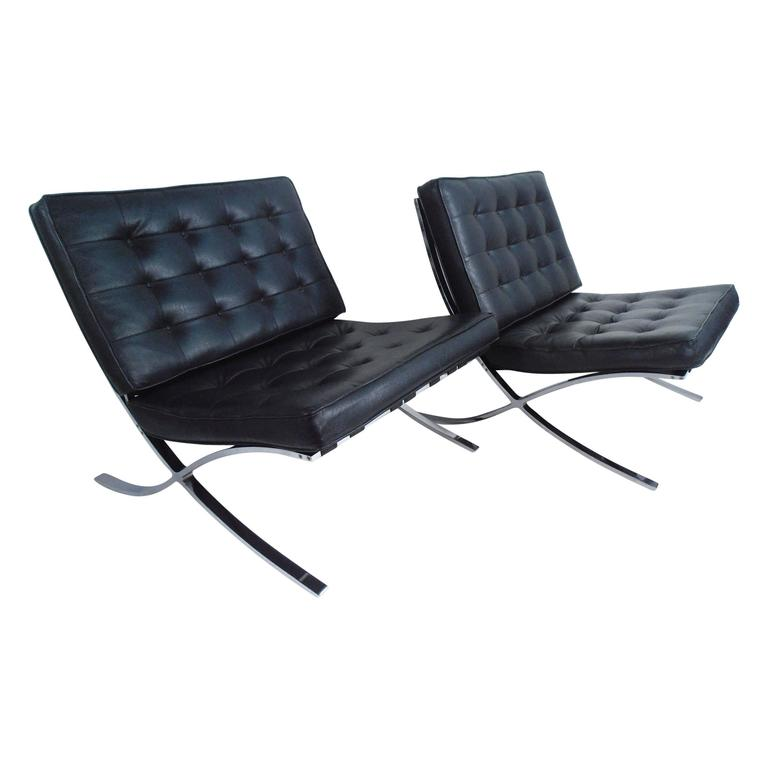 Contemporary Modern Barcelona Chairs in the Style of Mies van der Rohe