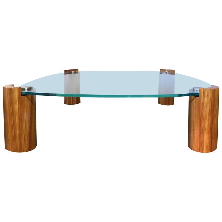mid-century modern karl springer zebra-wood coffee table with