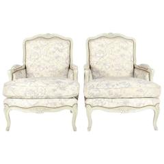 French Louis XV Style Bergere Chairs