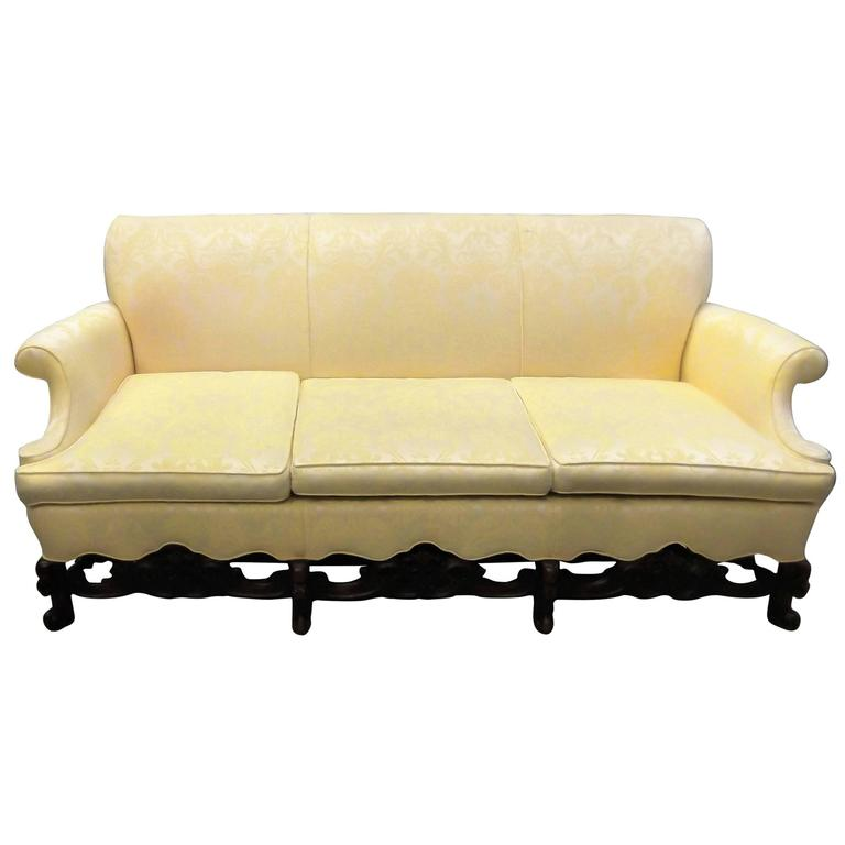 antique 19th century english walnut sofa for sale at 1stdibs. Black Bedroom Furniture Sets. Home Design Ideas
