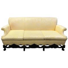 Late 19th Century English Walnut Sofa