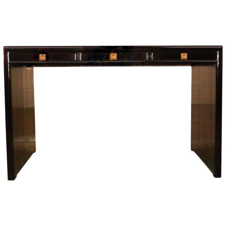Fine Black Lacquer Desk For