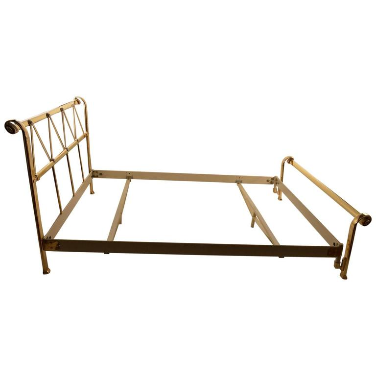 Full Size Brass Bed by Mauro Lipparini Made in Italy For Sale at 1stdibs