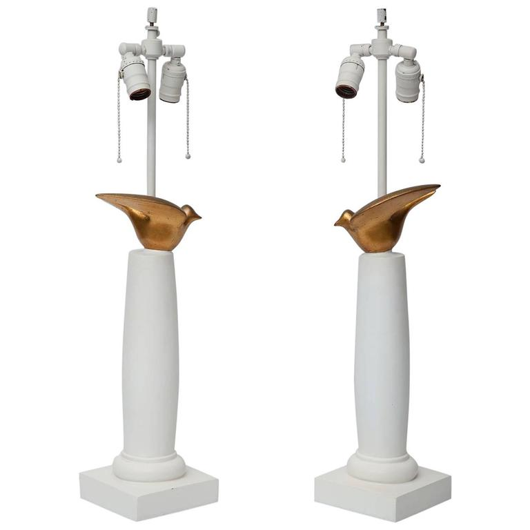 Pair of Sirmos Dove Lamps
