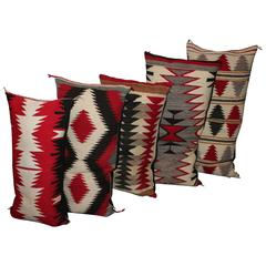 Amazing Collection of Navajo Indian Weaving Saddle Blanket Pillows
