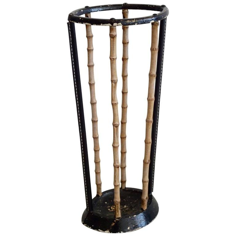 Umbrella Stand in the Style of Jacques Adnet 1