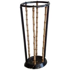 Umbrella Stand in the Style of Jacques Adnet
