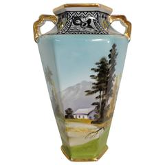 Antique Art Deco Noritake Morimura Vase, Signed