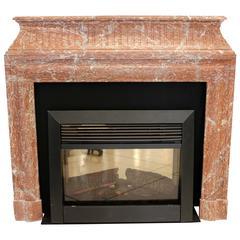 Elegant French Rose Marble Fire Mantel
