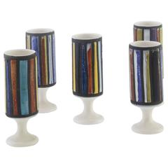 Set of Five Glasses by Roger Capron