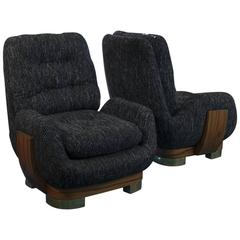 1960s Italian Pair of Lounge Chairs