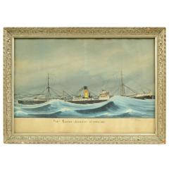 Italian Nautical Votive Painting