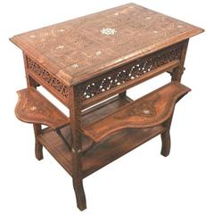 Syrian Tea Table, End of 19th Century, Fully Restored