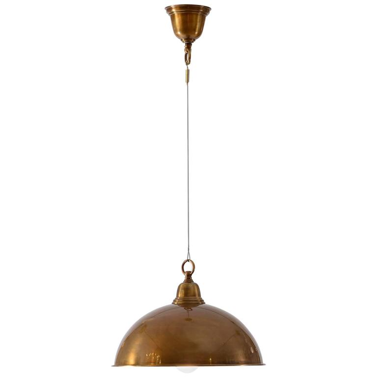 Early 20th Century Adolf Loos Ceiling Lamp, 1908, Re-Edition
