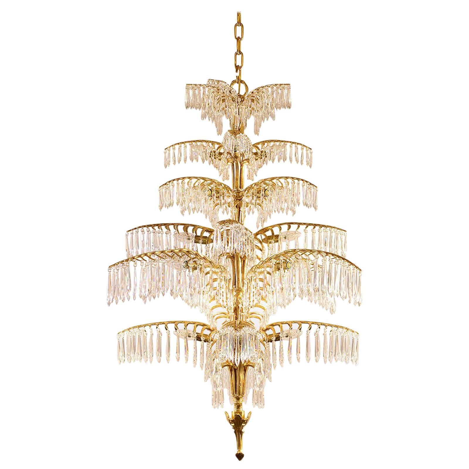 """Josef Hoffmann Ceiling Lamp """"Palme-Dubai"""" Jugendstil Re-Edition bespoke"""