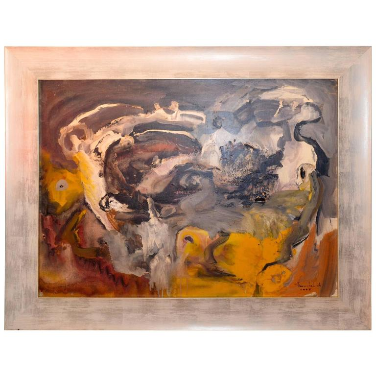 Oil on Canvas by André Tourtet, France, 1965 For Sale