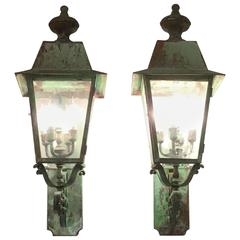 Pair of Wall Hanging Wall Lantern