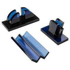 Set of Three Desk Accessories by Ettore Sottsass for Fontana Arte