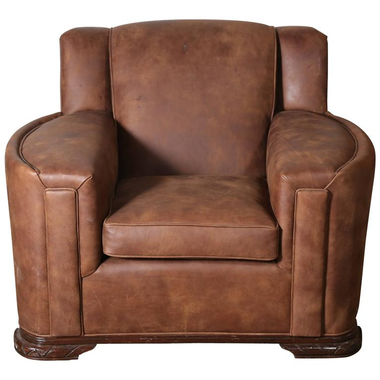leather club chair for sale deco leather club chair for at 1stdibs 8933