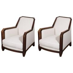 Pair of French Deco Club Chairs
