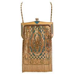 Art Deco Whiting & Davis Persian Carpet Flapper Bag