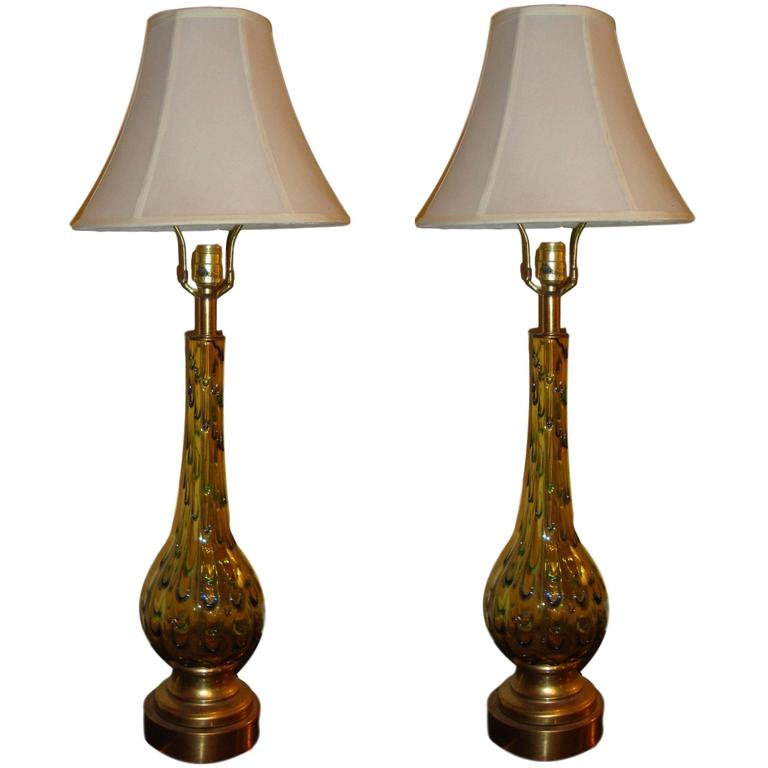 Pair of Multicolored Murano Glass Table Lamps