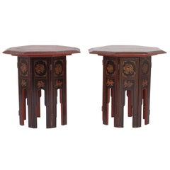Rare Pair of Burmese End Tables
