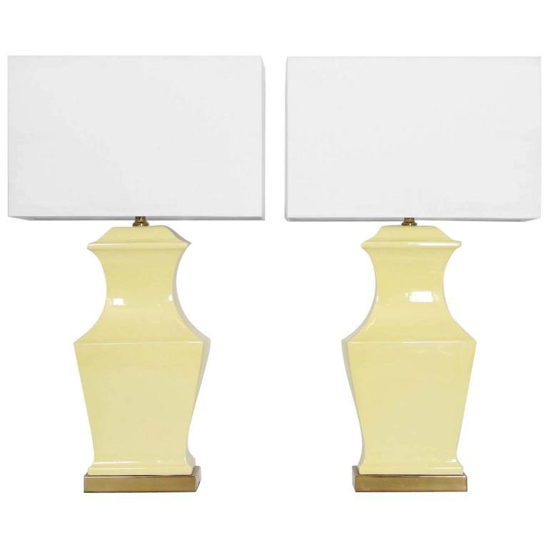 Paul Hanson Ceramic Lamps, Pair 1